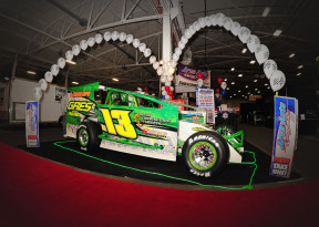 PJ Oliver's dirt modified from the 2014 PPB Motorsports Race Car & Trade Show